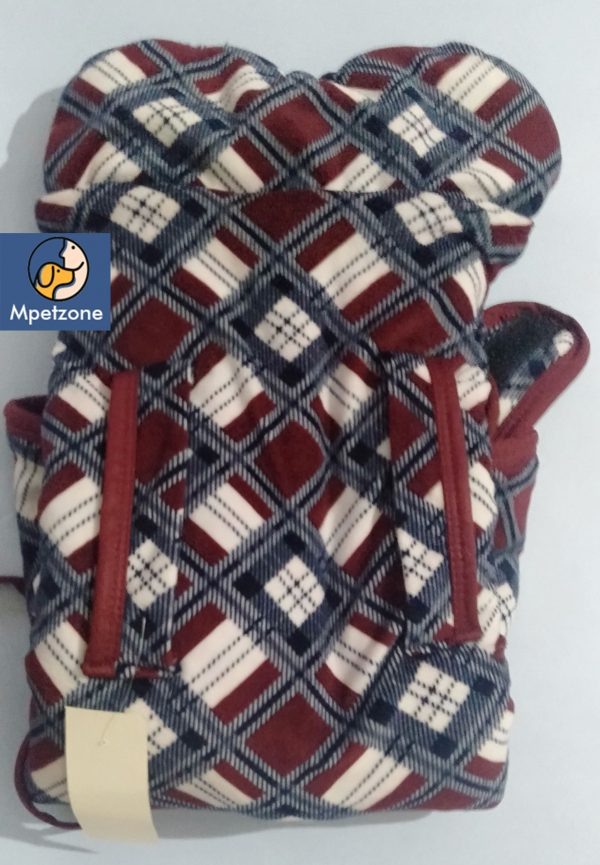 Red White and Gray Makhmal Premium Jackets For Dog Pets